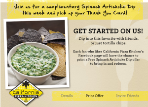 California Pizza Kitchen Birthday Coupon