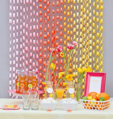 "Very Cute ""Party Decor on a Dime"" Idea"