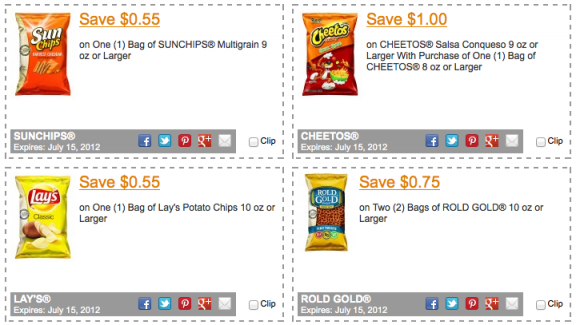 Chip coupons