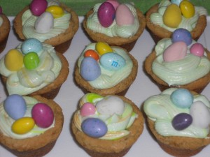 Easter Nest cookies Done