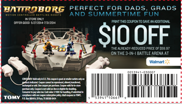 Battroborg coupon