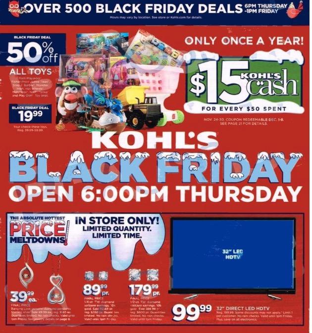 kohls black friday ad 2014