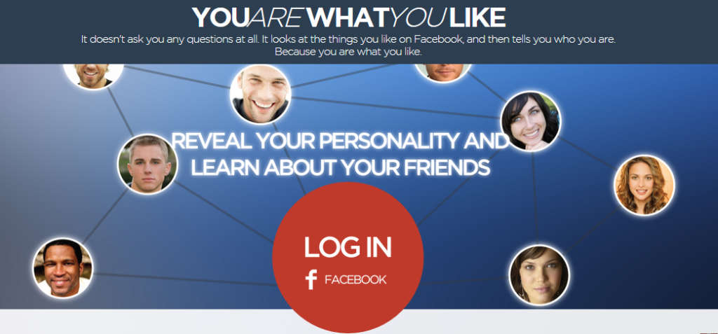 You are what you like app