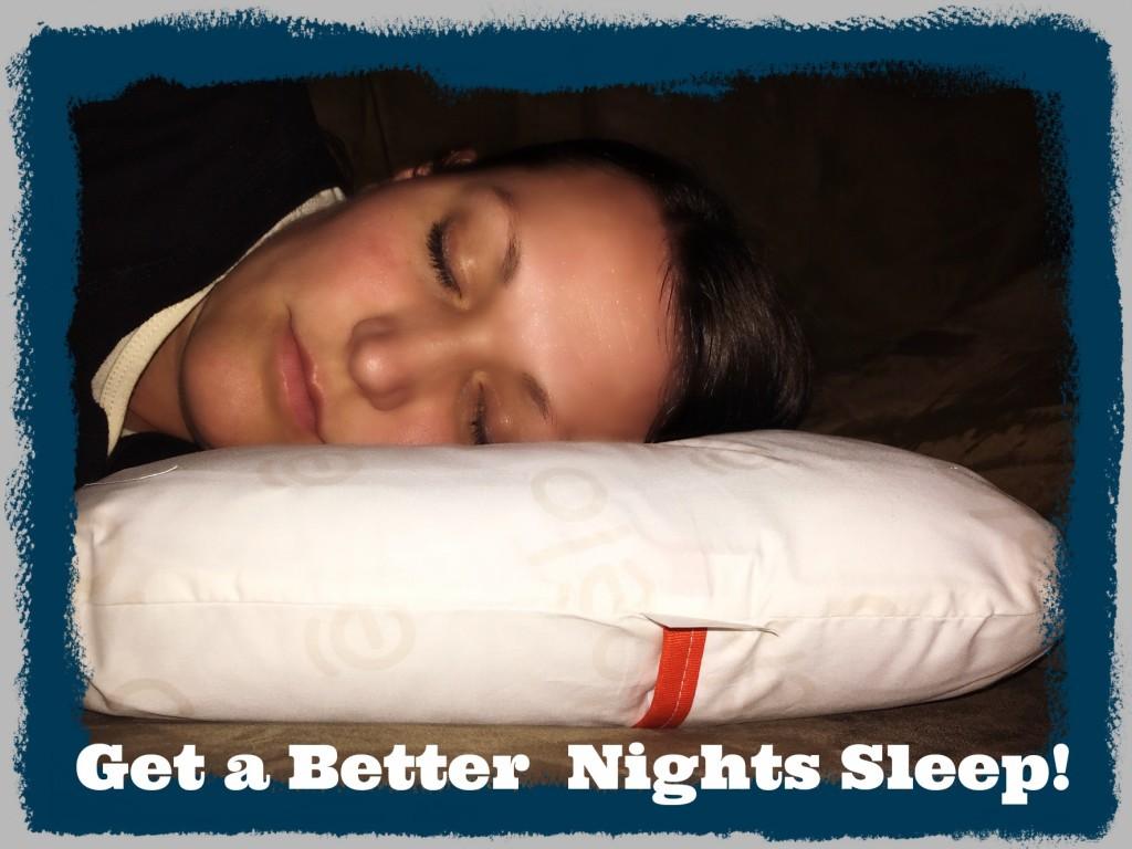 Get a better nights sleep!
