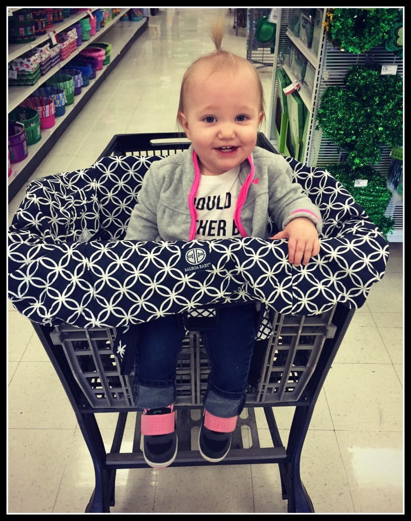 giveaway win a balboa baby shopping cart cover  mamas on a dime - shopping cart cover