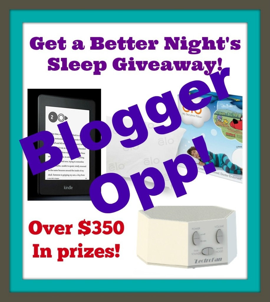 Sleep giveaway blogger opp