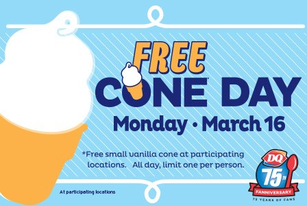 FREE ice cream at DQ