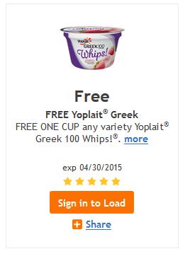 Free Yoplait whips