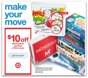 Target board games coupon