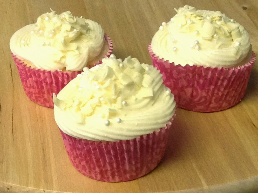White Chocolate Surprise Cupcake