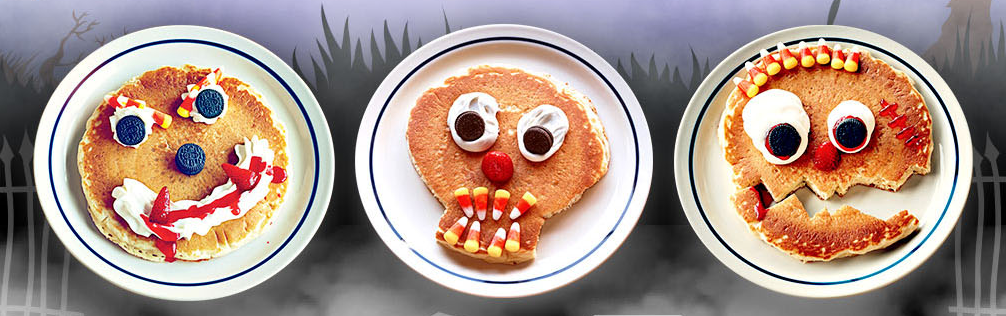 scary face pancakes
