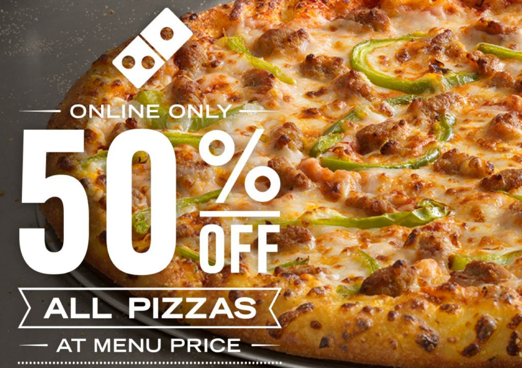 Dominos coupon code