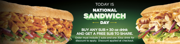 Subway coupon