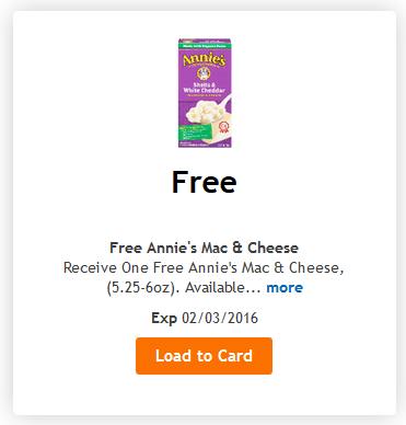 Free Annie's mac and cheese