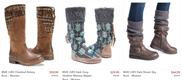 a4e3b17d3f68 Zulily is having a great sale on Muk Luk shoes. You can save up to 60%. I  don t think I saw anything that wasn t at least 50% off with prices  starting at ...